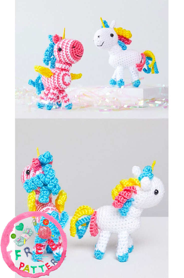 sparkle-and-shimmer-unicorns-free-crochet-patterns-2020