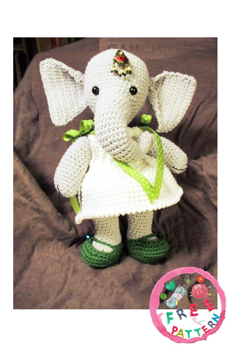 Amigurumi Crochet Elephant Pattern   Supergurumi   1106x735