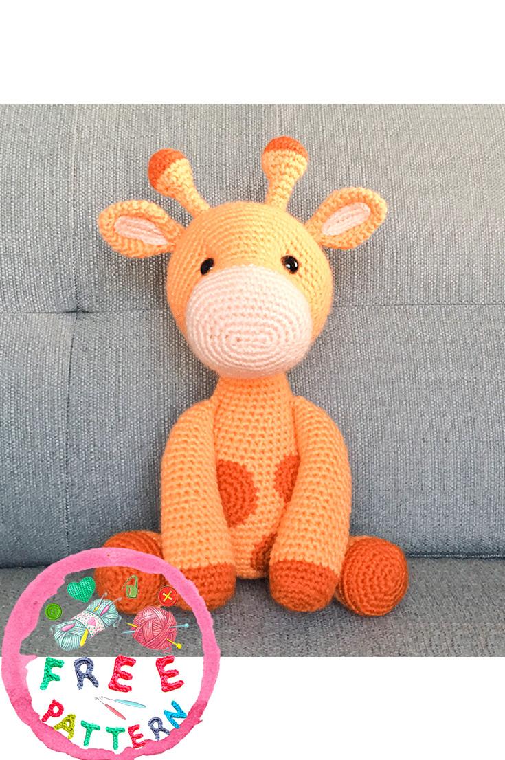 Ginnie the Giraffe Free Amigurumi Pattern | Jess Huff | 1106x735