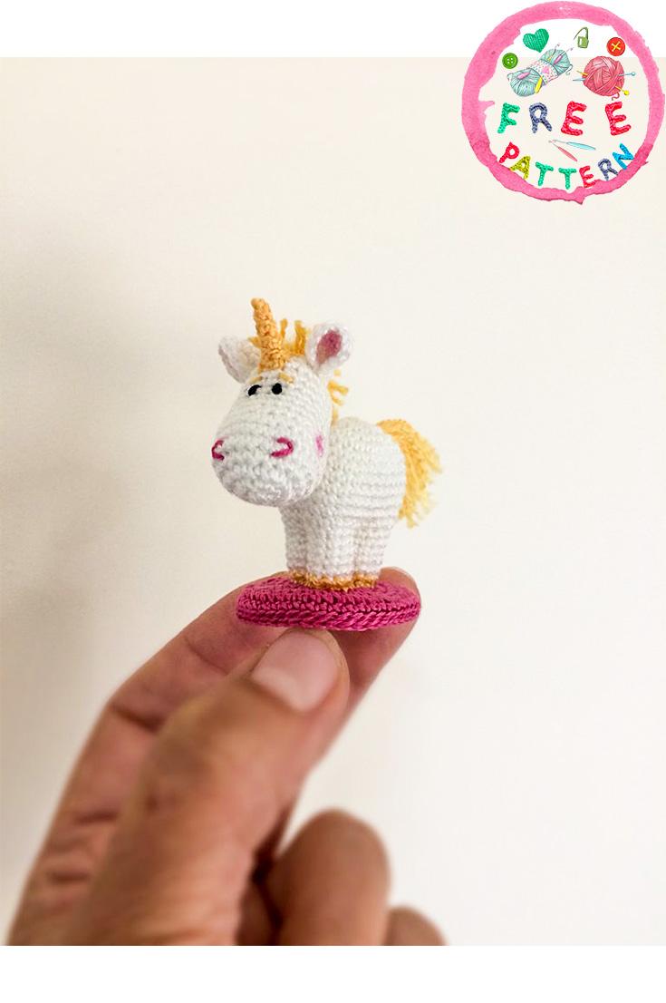 Ravelry: Tiny unicorn amigurumi pattern by Ahooka Migurumi | 1106x735