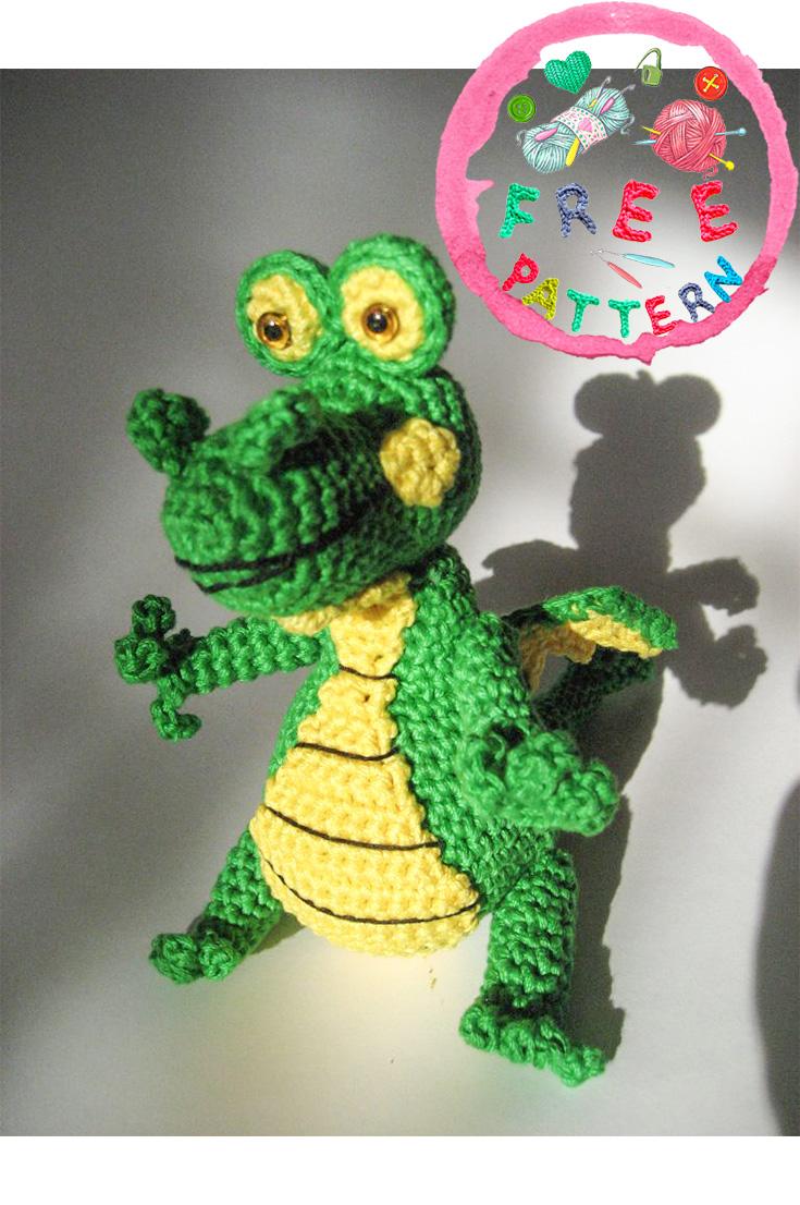 Free pattern – Crocodile - maiu amigurumi | 1106x735