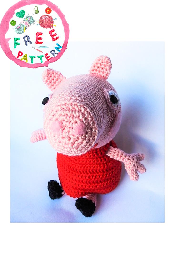 Crochet pig free amigurumi pattern - YouTube | 1106x735