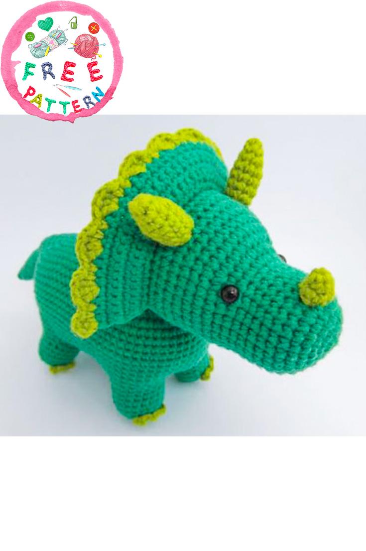 Crochet Amigurumi Dinosaur Free Patterns - Cool Creativities | 1106x735