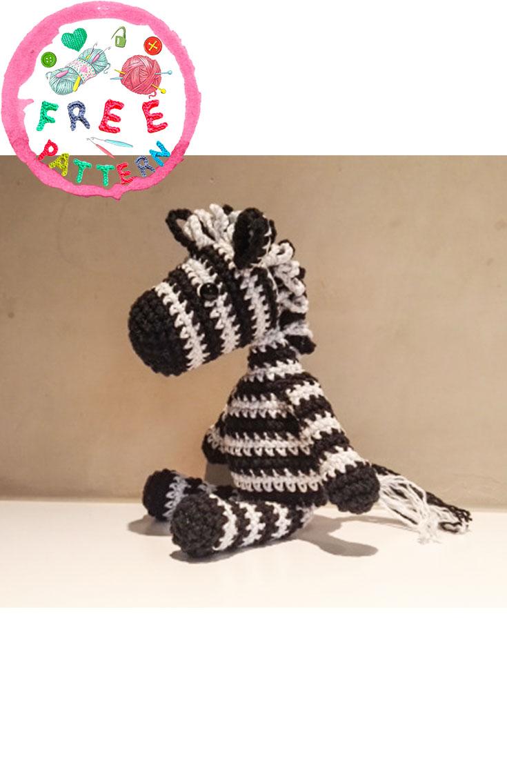 Baby Knitting Patterns How To Free Easy Crochet Zebra Pattern... | 1106x735