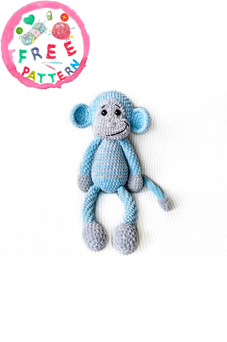 crochet-plush-monkey-toy-amigurumi-free-pattern