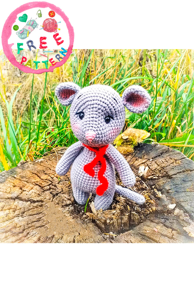 Amigurumi Catnip Mouse Free Pattern and Video | 1106x735