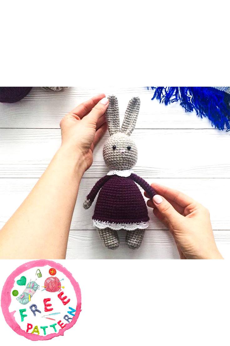 Honey Bunny Amigurumi Dress-Up Doll with Garden Play Mat: Crochet ... | 1106x735