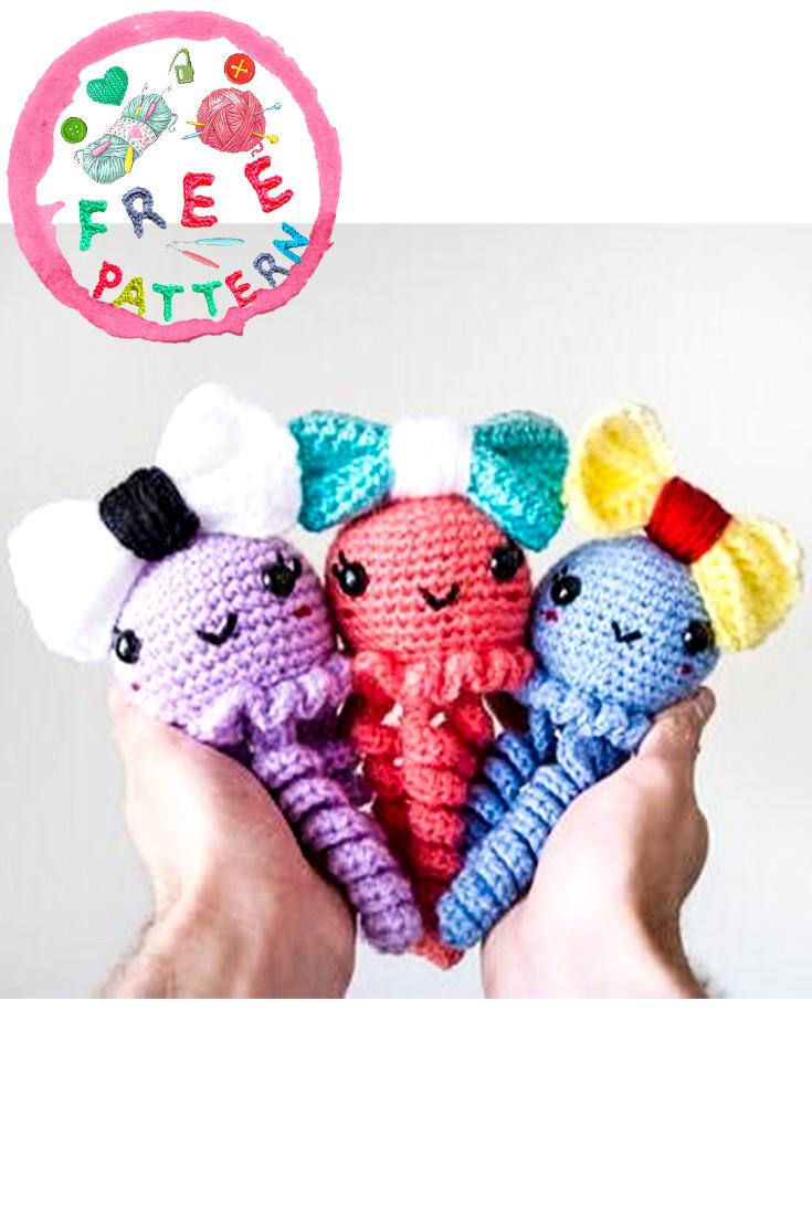 What a cute crochet jellyfish. Jenny the Jellyfish - amigurumi ... | 1106x735